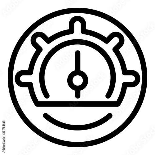 Barometer arrow icon Canvas Print