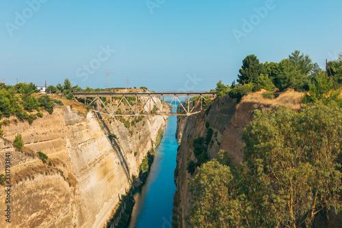 Fotografia, Obraz Landscape of the Corinth Canal in Greece