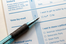 Vote By Mail Check Box With Pen