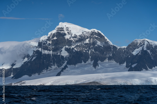 Mountain and sea landscape in Antarctica