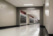 canvas print picture - Empty school hallway