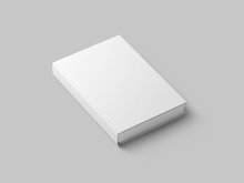 Blank Book Isolated On Grey To...