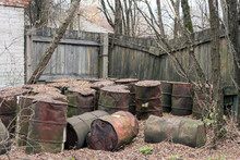 Old Rusty Barrels In Pripyat I...