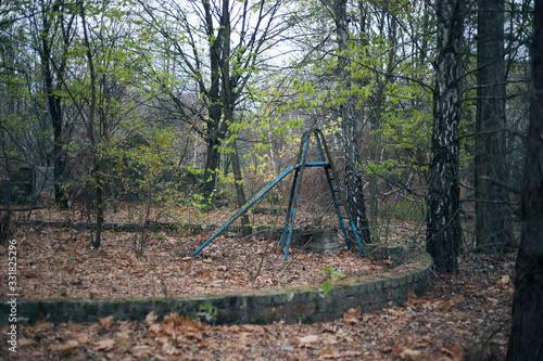 Fototapeta Autumn forest in Pripyat in Chernobyl obraz na płótnie
