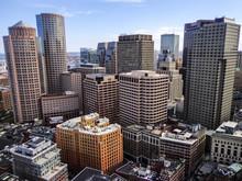 Aerial View Of The Boston Skyl...