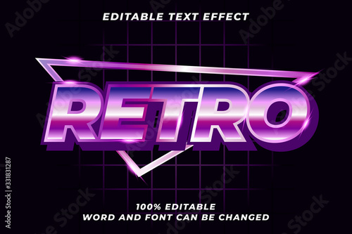 Obraz Retro text style effect Premium Vector - fototapety do salonu