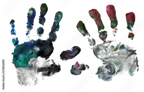 Handprint in paint Canvas-taulu