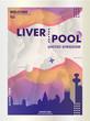 UK United Kingdom Liverpool skyline city gradient vector poster