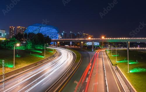 Obraz na plátně Shenyang night view