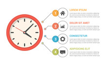 Infographic Template With Clock