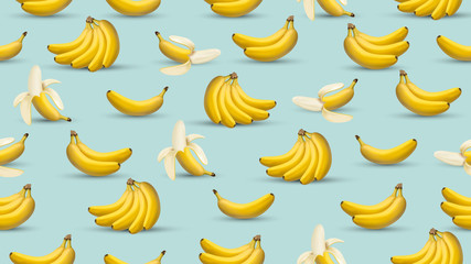 Banana background, 3d realistic style illustration, banana design graphic