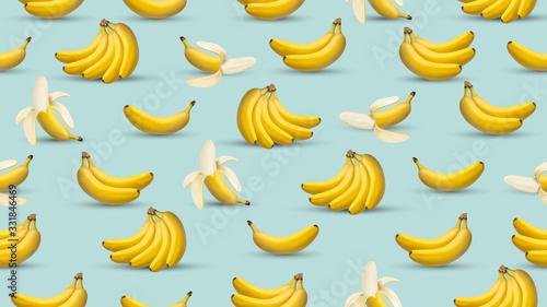 Banana background, 3d realistic style illustration, banana design graphic