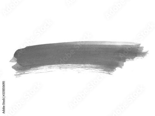 Tablou Canvas Black watercolor scribble texture