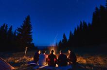 Summer Camping Under Stars. Re...