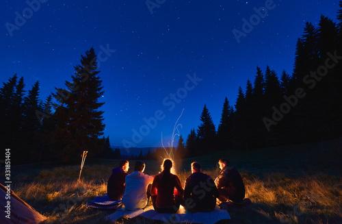 Fotografie, Tablou Summer camping under stars