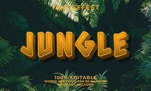 Jungle 3d Editable Text Style Effect