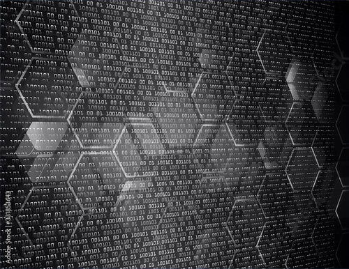 Photo Black cyber circuit future technology concept background
