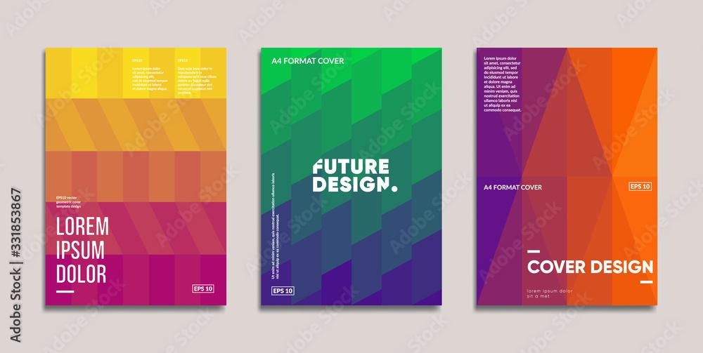 Fototapeta Minimal annual report design vector collection. Eps10 vector.