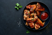 Grilled Spicy Chicken Wings Wi...