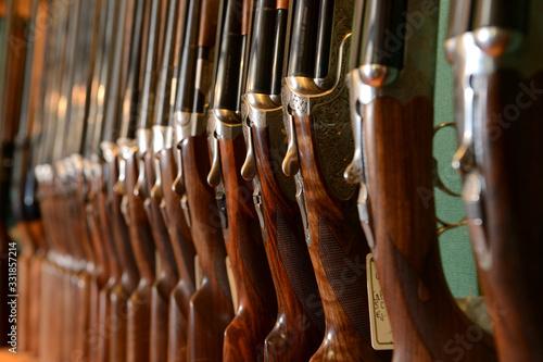 Armurerie traditionnelle, vente de fusils de chasse et cartouches Wallpaper Mural