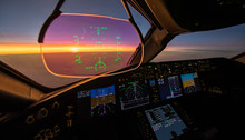 Sunset From The Flightdeck Of ...