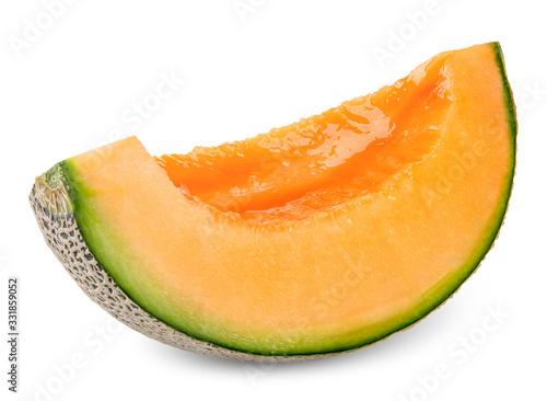 Obraz na plátně slice melon isolated on white clipping path