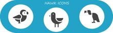 Hawk Icon Set