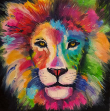 Portrait Of A Lion In Bright C...