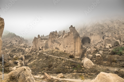 Photo Cappadocia in the fog