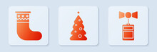 Set Christmas Tree With Decora...