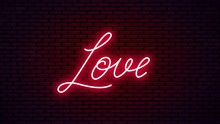 Love Neon Hand Drawn Lettering...