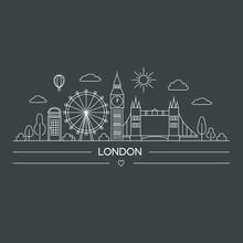 Illustration Of London City At...