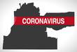 Memphis Tennessee city map with Coronavirus warning