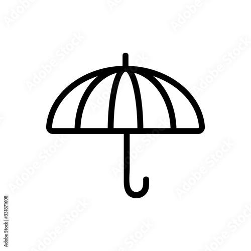 Fototapeta large umbrella icon vector. large umbrella sign. isolated contour symbol illustration obraz