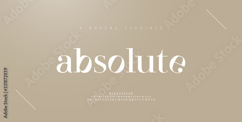 Elegant alphabet letters font and number. Classic Lettering Minimal Fashion Designs. Typography fonts regular uppercase and lowercase. vector illustration