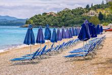 View Of Empty Beach – Blue D...