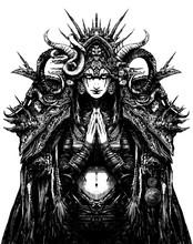 A Beautiful Female Occultist L...