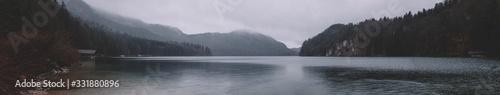 Fototapeta panorama on mountain lake