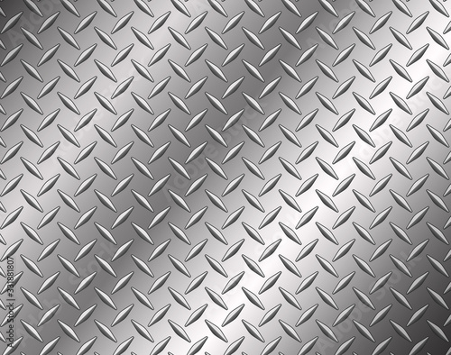 Obraz The diamond steel metal texture background - fototapety do salonu