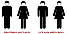 Please Wear Face Nose Mouth Ma...