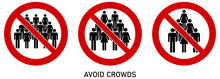 Avoid Crowds Social Distancing...