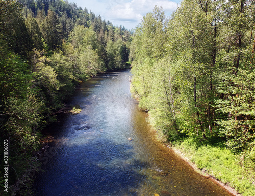 Fabulous aerial photography of Flaming Geyser State Park and the Green River on Canvas Print
