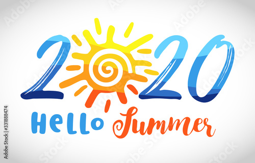 Obraz na plátne 2020 sunny icon