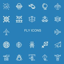 Editable 22 Fly Icons For Web ...