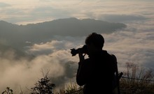 Silhouette Of Photographer At ...