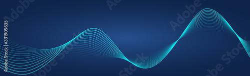 Obraz na plátně Abstract wave element for design