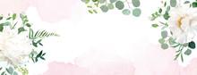 Retro Delicate Wedding Banner ...