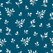 Decorative seamless pattern with leaves and branches. Endless texture.
