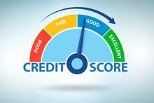 Credit Score Concept - 3d Rendering