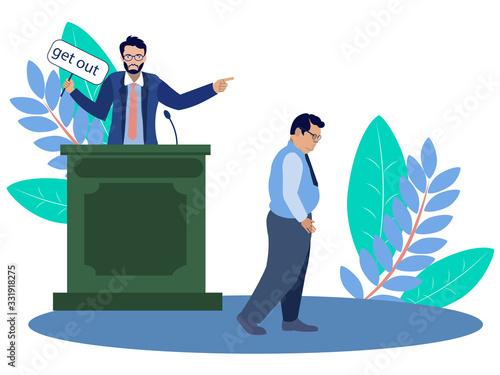 The expulsion of a person from society by court Wallpaper Mural